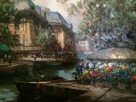 French Landscape 1990 36x26 Original Painting by Pierre Latour - 2