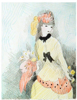 La Dame Jaune Limited Edition Print by Marie Laurencin