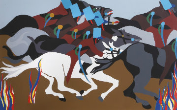 Toussant At Ennery From Toussant L'ouverture 1989 Limited Edition Print - Jacob Lawrence