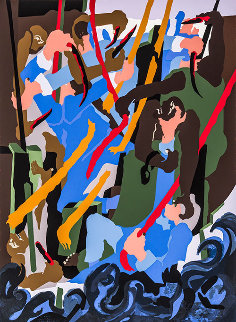 Revolt on the Amistad AP 1989 Limited Edition Print - Jacob Lawrence