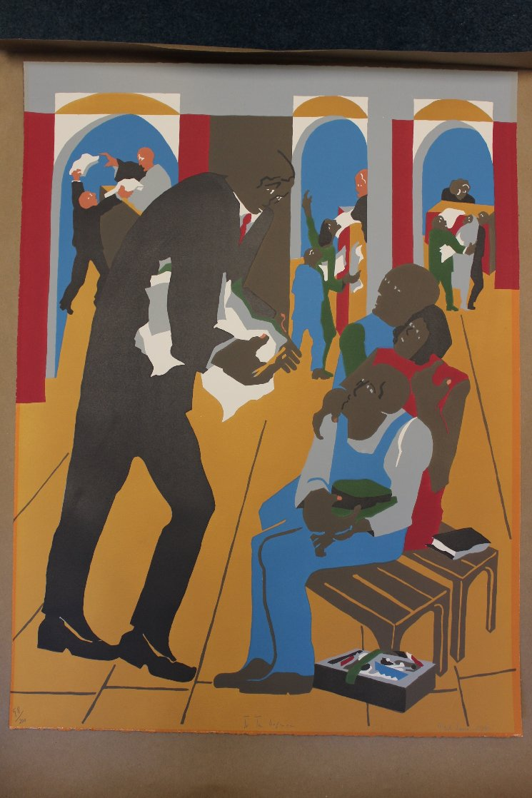 To the Defense 1989 Limited Edition Print by Jacob Lawrence