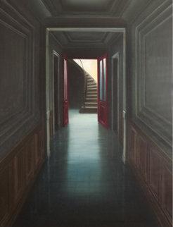 Visite Surprise 2002 30x25 Original Painting - Claude Lazar