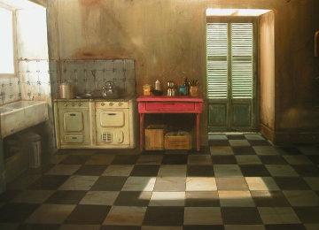 Quelque Chose Palpite Encore 34x51 Original Painting - Claude Lazar