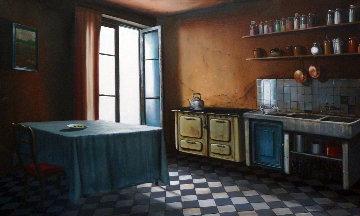 Desaffection Du Vide 1988 39x55 Original Painting - Claude Lazar