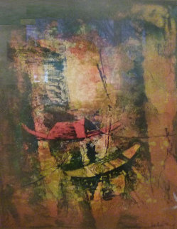 Untitled (Two Boats) Limited Edition Print by  Lebadang
