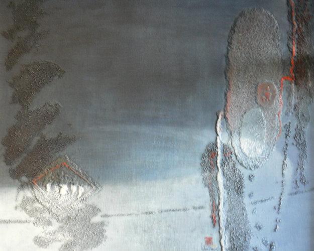 Blue Noir 1987 32x40 Original Painting by  Lebadang