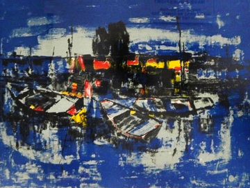 Boats Limited Edition Print by  Lebadang