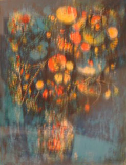 Vase with Flowers Limited Edition Print by  Lebadang