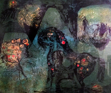 Le Chevaux 1970 Limited Edition Print by  Lebadang