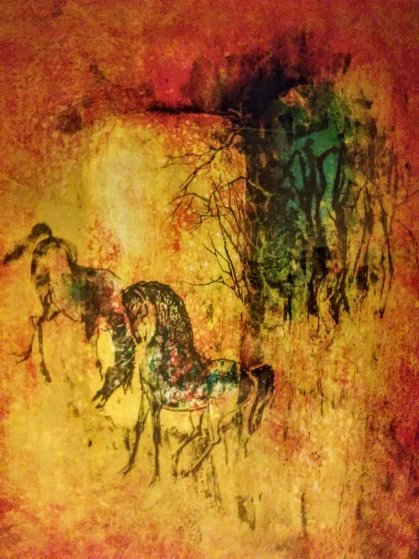 Horses 1989 Limited Edition Print by  Lebadang