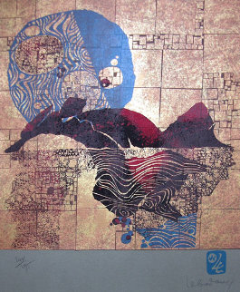 Le Solei Blue Limited Edition Print -  Lebadang