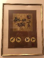 Golden Horses 1979 Limited Edition Print by  Lebadang - 2