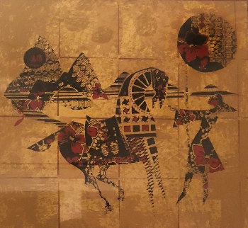 Golden Horses 1979 Limited Edition Print by  Lebadang