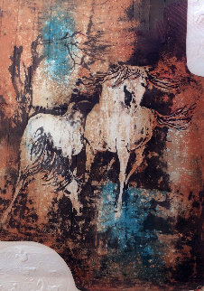 Horses In The Wind with Embossing Limited Edition Print by  Lebadang
