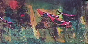 Boats at Rest 1966 Limited Edition Print by  Lebadang