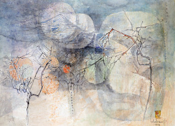 Untitled Early Watercolor 1978 31x39 Watercolor by  Lebadang