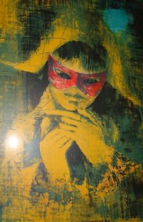 Lady With Mask Limited Edition Print by  Lebadang