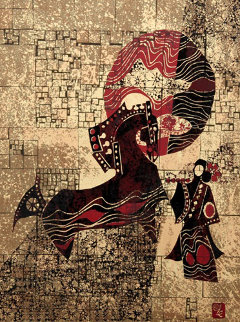 Horse And Woman Limited Edition Print by  Lebadang
