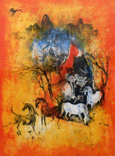 Horses In The Wind Limited Edition Print by  Lebadang