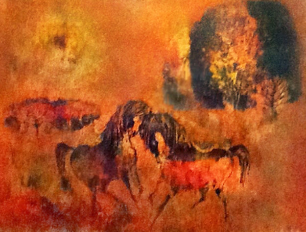 Mating Horses Limited Edition Print by  Lebadang