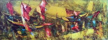 Fishing Boats #2 1960 Limited Edition Print by  Lebadang