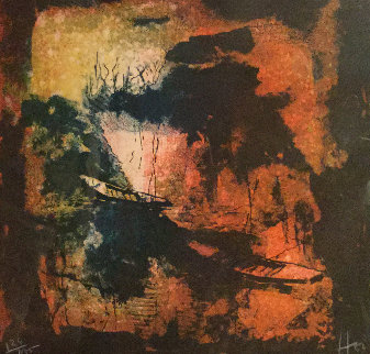Untitled Lithograph 1970 Limited Edition Print by  Lebadang