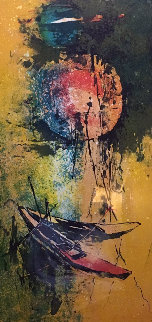 Two Red Boats 1974 Limited Edition Print -  Lebadang