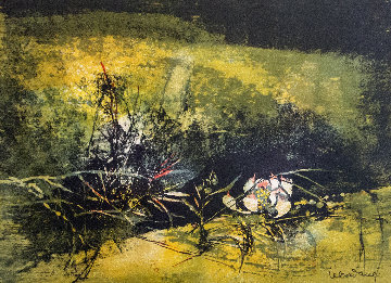 Lotus (Unique Flower) 1989 Limited Edition Print by  Lebadang