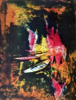 Trois Barques  Limited Edition Print by  Lebadang