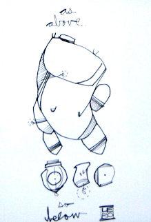 Truth in Light II 2013 19x16 Drawing -  Lebo
