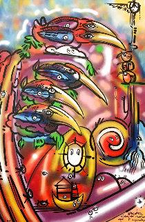 Somewhere Along Our Endless Epic Adventure 2018 72x48 Super Huge  Original Painting - David Le Batard Lebo