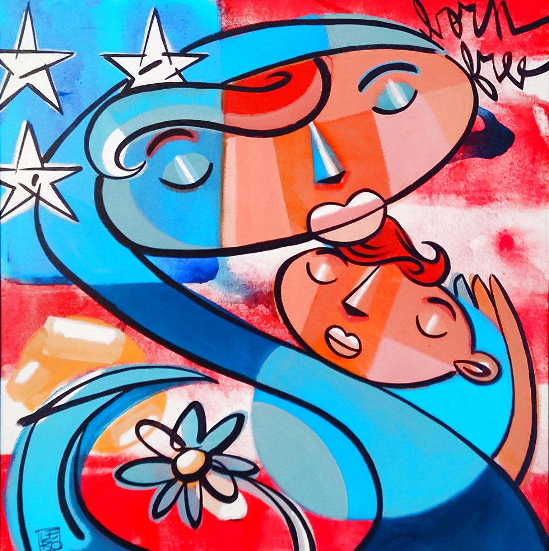 Mother And Child - Let Freedom Ring 2013 Limited Edition Print by David Le Batard Lebo