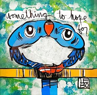 Something to Hope For 2020 16x16 Original Painting - David Le Batard Lebo