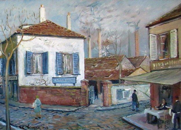 Vins 1949 31x22 Original Painting by Alois Lecoque