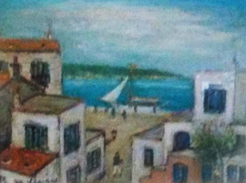 Subject of Mexico  1975 14x18 Original Painting by Alois Lecoque