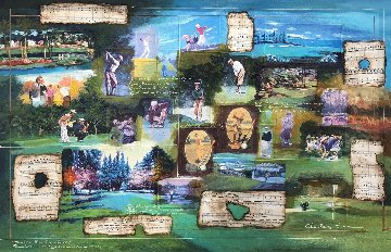 Golf Through Time 2007 44x34 Huge Original Painting - Charles Lee