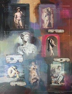 Untitled Painting 57x45 Super Huge Original Painting - Charles Lee