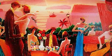 View From Above Capri 2006 Embellished Limited Edition Print by Charles Lee