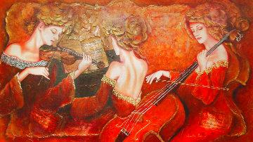 Untitled Painting 55x87 Super Huge Original Painting - Charles Lee