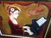 Love of Music 2012 35x41 Super Huge  Original Painting by Charles Lee - 2