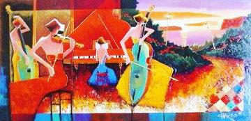 Mediterranean Melody 2006 36x60 Original Painting - Charles Lee