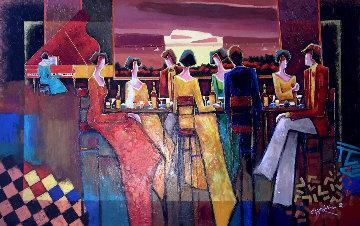 A Few Good Friends 2008 57x39 Super Huge Original Painting - Charles Lee