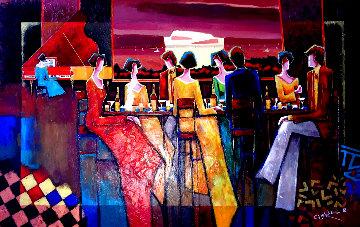 Few Good Friends 2008 57x39 Super Huge Original Painting - Charles Lee