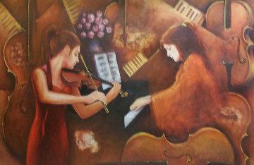 Sonata 2012 30x48 Super Huge Original Painting - Charles Lee