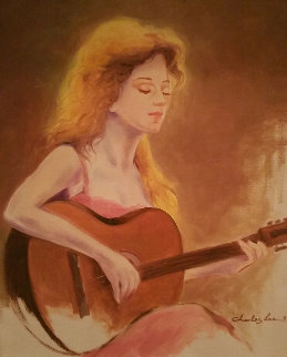 Delightful Melody 2015 30x25 Original Painting by Charles Lee
