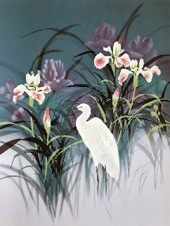 Egret 1986 Limited Edition Print by David Lee