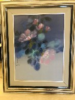 Floral Pedals  Watercolor 1986 20x26 Watercolor by David Lee - 2
