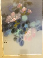 Floral Pedals  Watercolor 1986 20x26 Watercolor by David Lee - 1