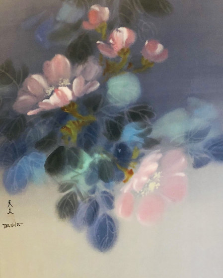 Floral Pedals  Watercolor 1986 20x26 Watercolor by David Lee