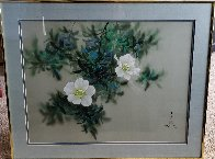 Untitled Painting (Moonflowers) 1980 24x30 Original Painting by David Lee - 1